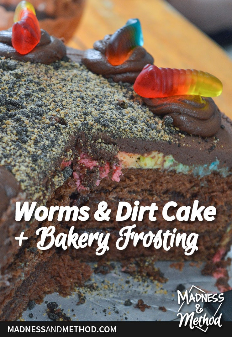 bakery frosting recipe for worms and dirt cake