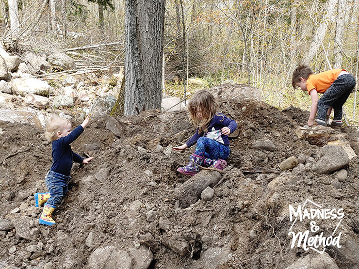 kids playing in dirt