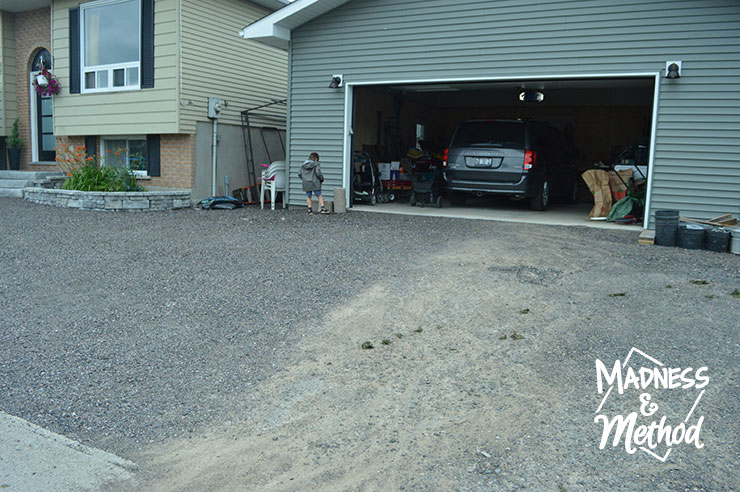 stone driveway after dirt