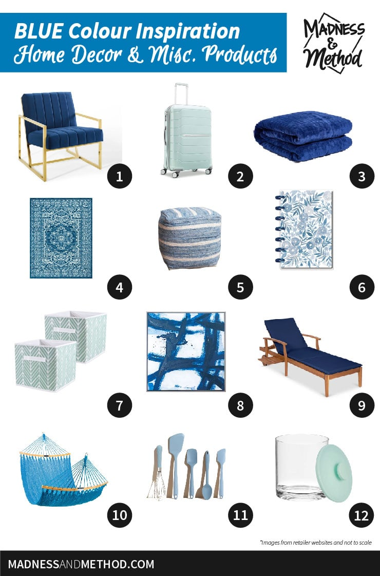 colour inspiration blue products
