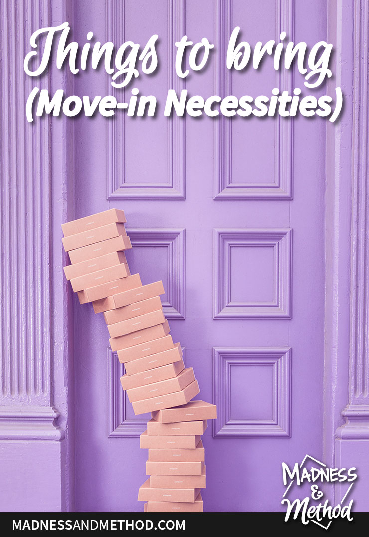 things to do bring when you move in
