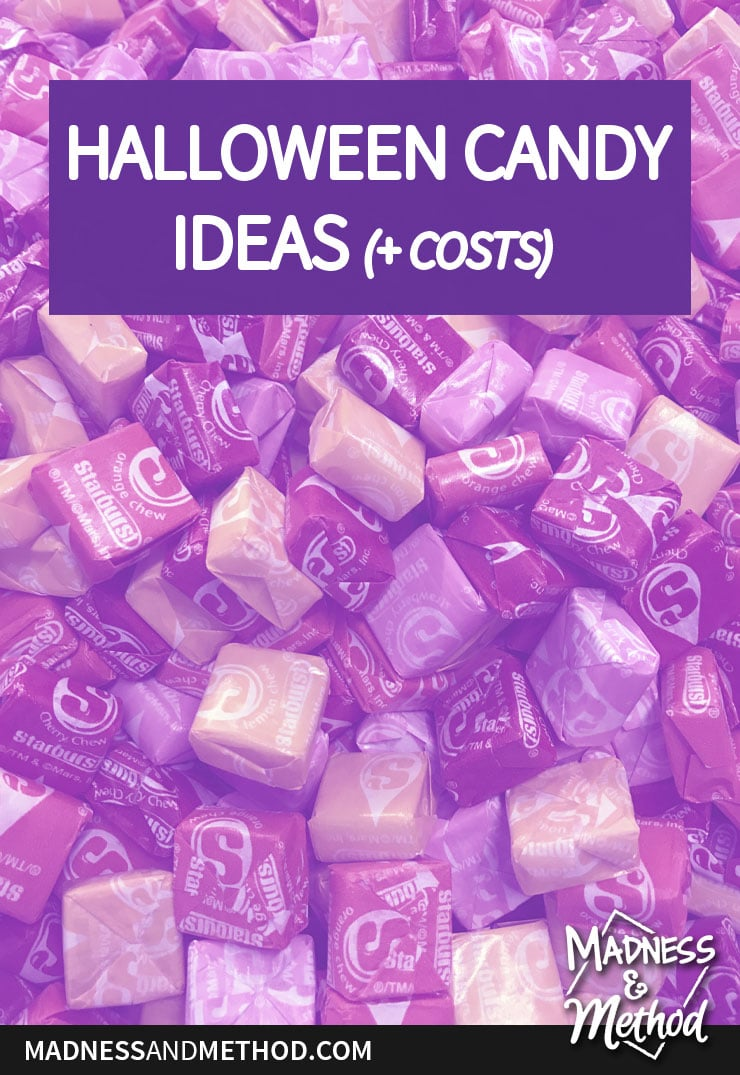 halloween candy ideas and costs