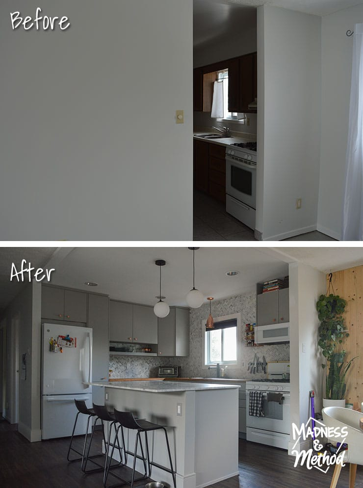 removing walls in kitchen