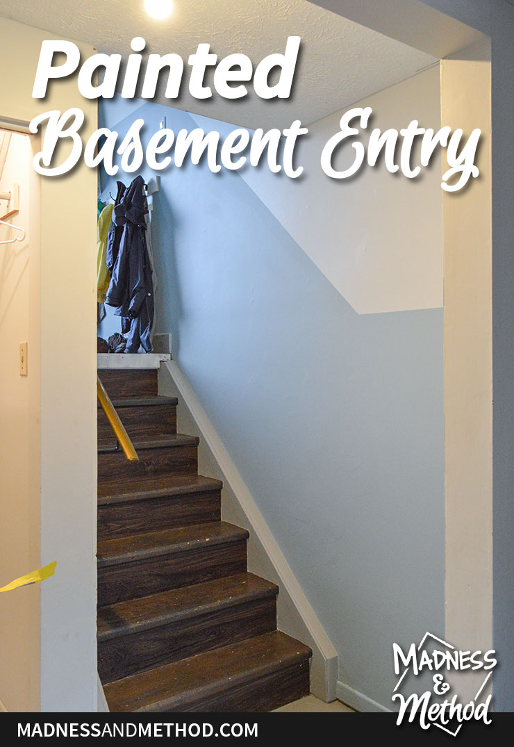 basement entry painted